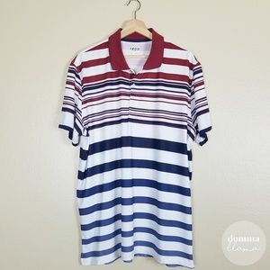IZOD • Striped Golf Polo XL